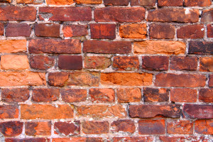 brick wall with structural problems