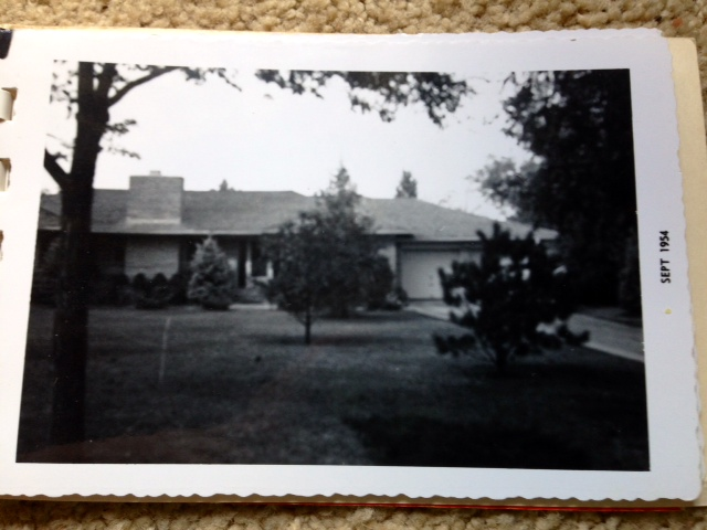 photo of finished home 1954