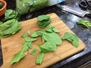 clean fresh spinach