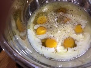 frittata egg batter