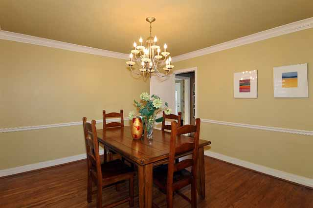 dining room towards window