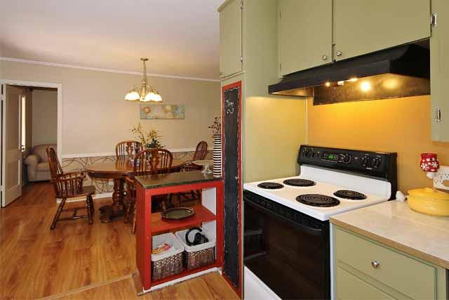 kitchen towards dining