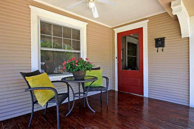 porch in Craftsman bungalow