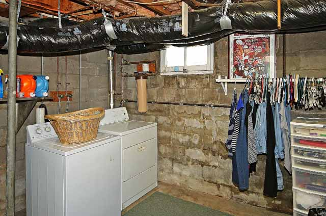 basement and utility area
