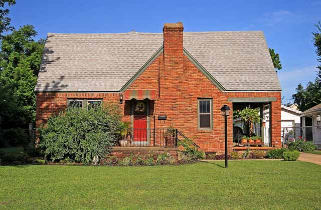 front of full brick bungalow for sale - midtown Tulsa
