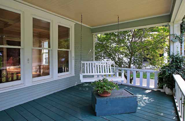 porch swing on Craftsman bungalow