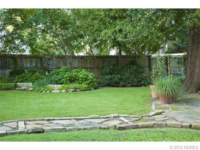 Enjoy the lush green back yard.