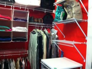 de-cluttered closet