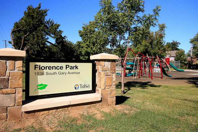 Florence Park sign