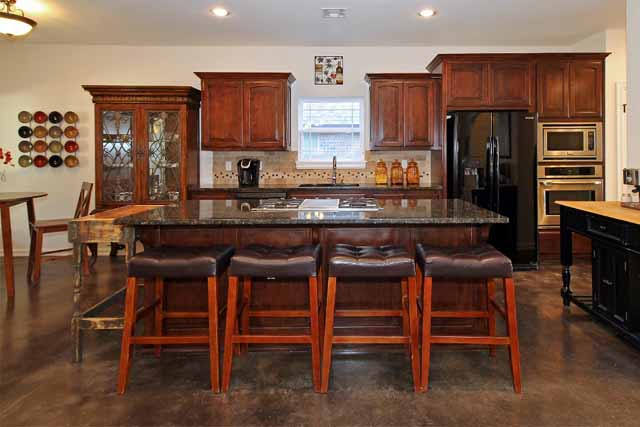 Custom built contemporary new construction broken arrow for Custom kitchen island for sale