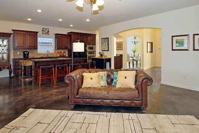 living area towards kitchen