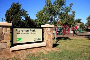 Florence Park with tennis courts and playground