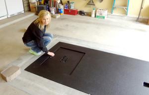 tornado shelters garage floor