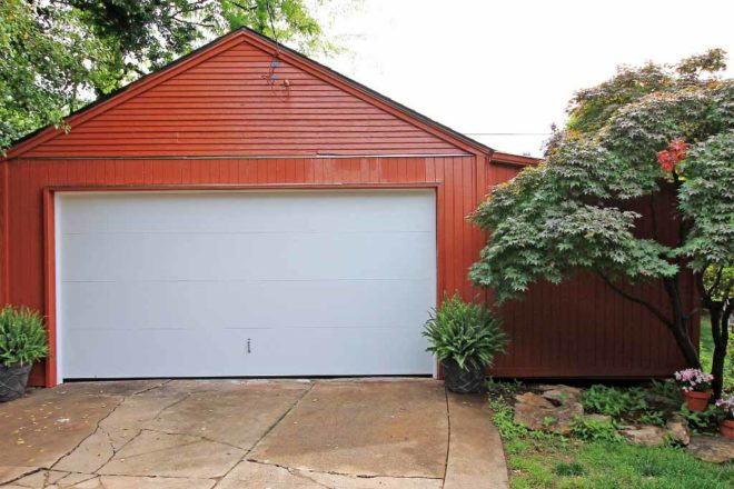 Garage and attached shed