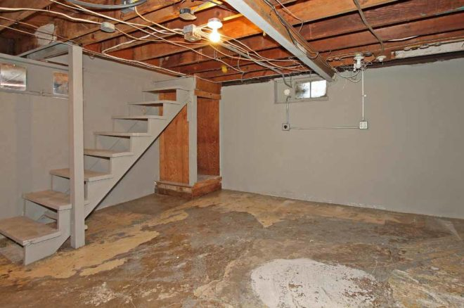 Partial basement