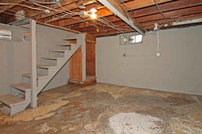 Partial basement