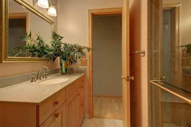 hall bath accessible to master